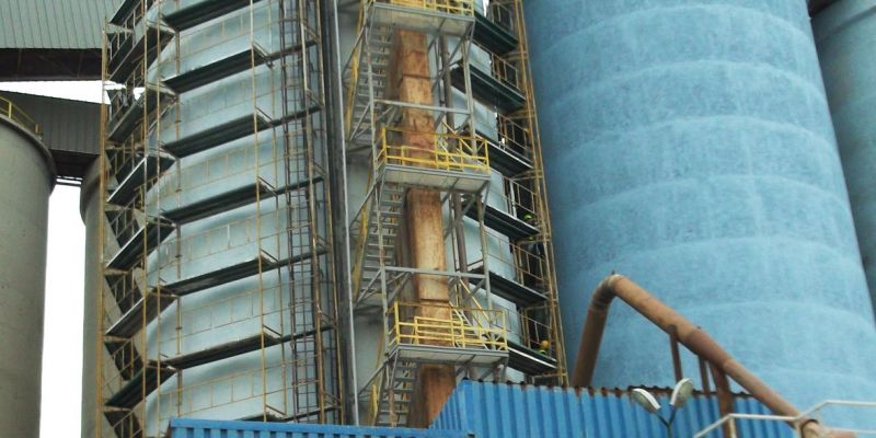Industrial Concrete Silo Restoration and Strengthening